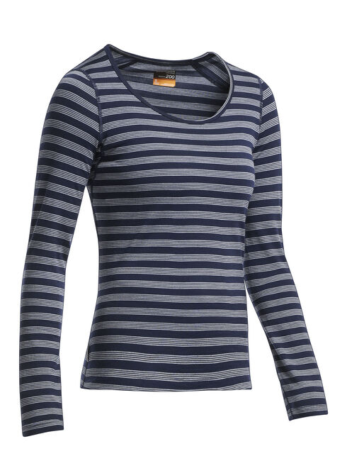 Oasis Long Sleeve Scoop Stripe