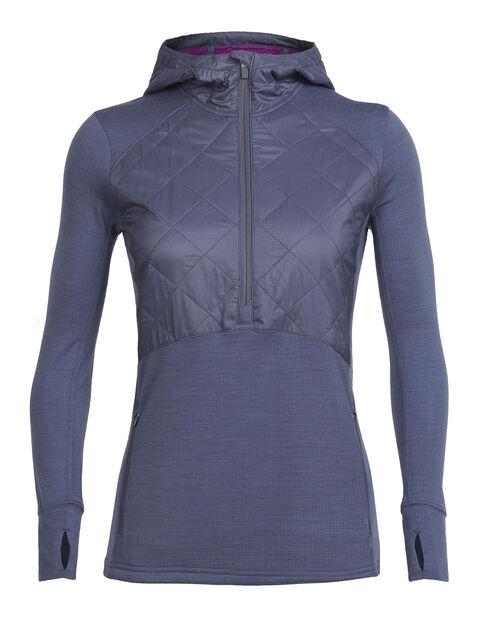 Women's MerinoLOFT Ellipse Long Sleeve Half Zip Hood