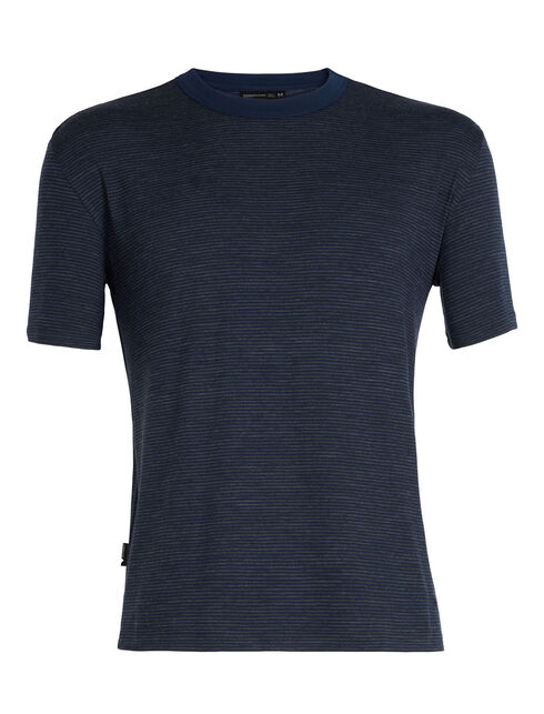 Luxe Lite休闲短袖圆领条纹上衣