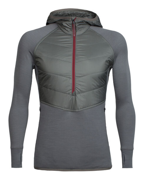 Men's MerinoLOFT™ Ellipse Long Sleeve Half Zip Hood