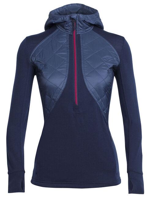 MerinoLOFT™ Ellipse Long Sleeve Half Zip Hood
