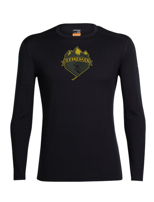 Oasis Long Sleeve Crewe Ski Crest