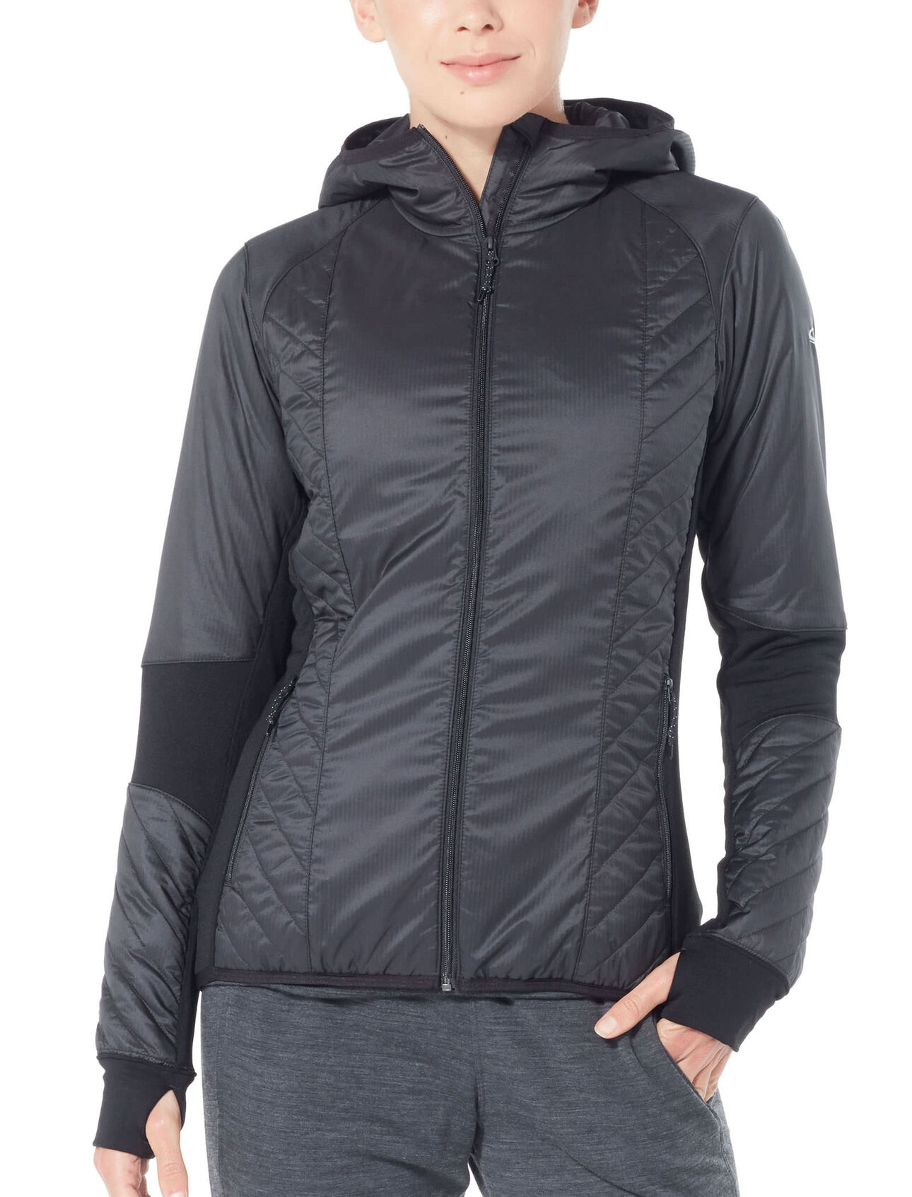 7fe5ba04f73 MerinoLOFT™ Helix Long Sleeve Zip Hood - Icebreaker (NZ)