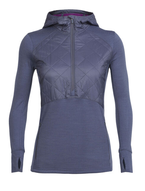 Women's MerinoLOFT Ellipse Long Sleeve Half Zip Hood